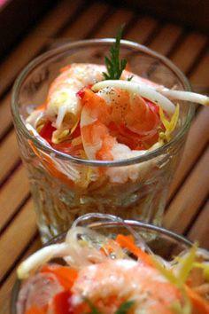 Composez une salade Thai pour une entrée 100% healthy ! #fresh #crevettes #sésame