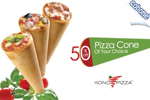 Treat yourself to an Italian classic with an innovative twist, pizza in a cone for AED 9 from Kono Pizza (Value AED 18) – Choose from 12 varieties of Kono Pizza Classic, Freskissimo and Speciale Flavors!