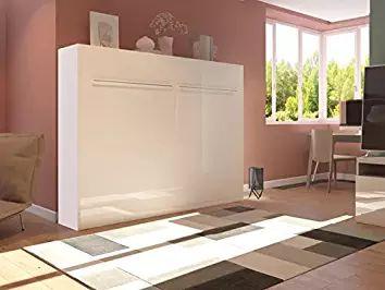 SMARTBett Sonoma - Armario con cama (140cm, horizontal, madera de roble, 140x 200cm, ideal como cama de invitados, armario con cama plegable)