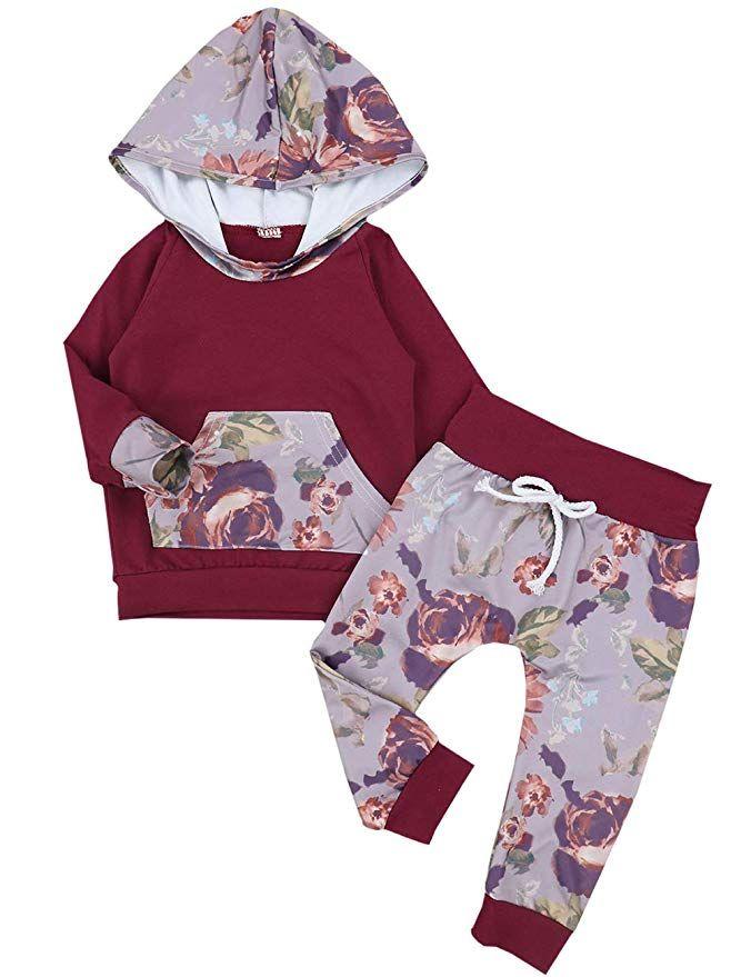 Fineser 2PCs Toddler Baby Boys Girls Pajama Set Kids Banana Print Pullover T-Shirt Pants Sleepwears