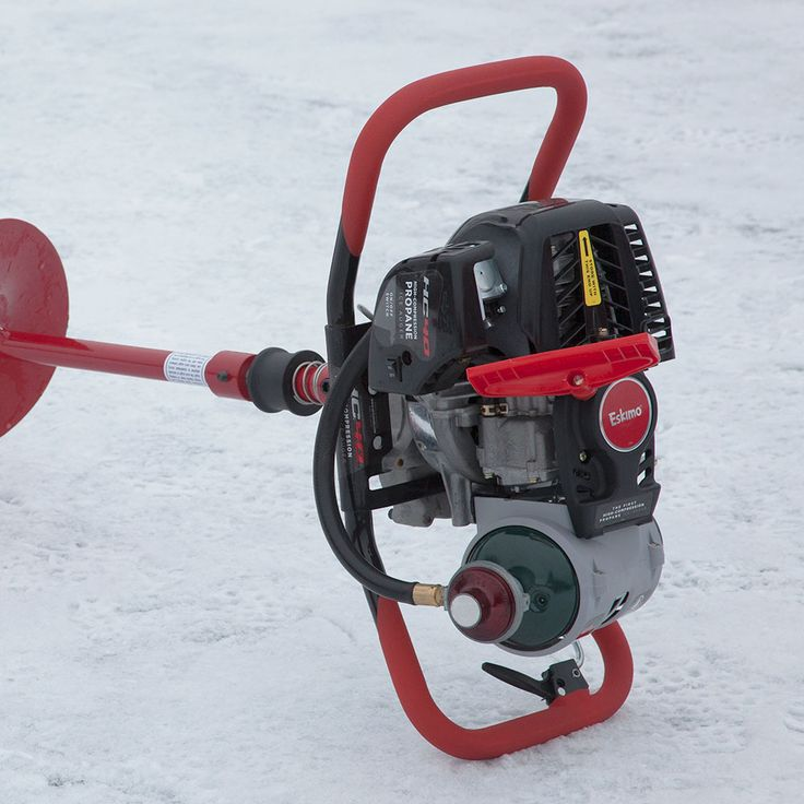 Eskimo - Ice Fishing Augers, Ice Fishing Shelters and Ice Fishing Gear: - 40cc 10-Inch Propane Ice Auger