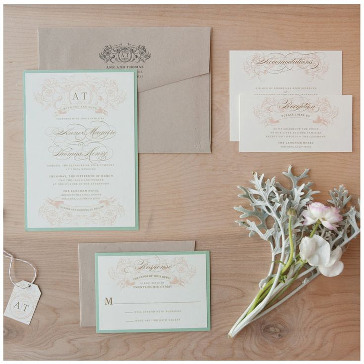 Vintage Wedding Invitation Country Lush Shabby Chic
