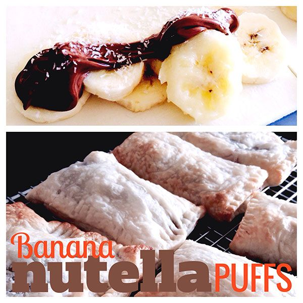 Banana and Nutella Puffs- quick and easy with only 4 ingredients!