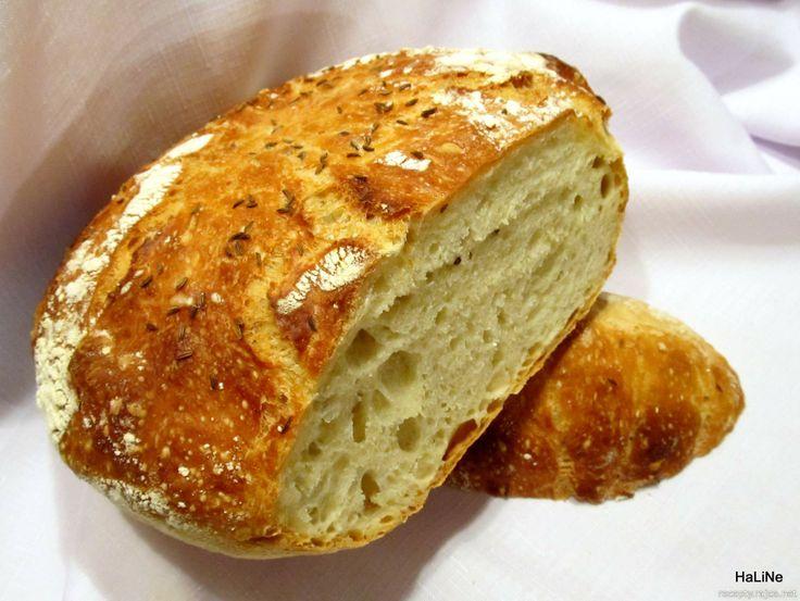 Domácí nehnětený chléb
