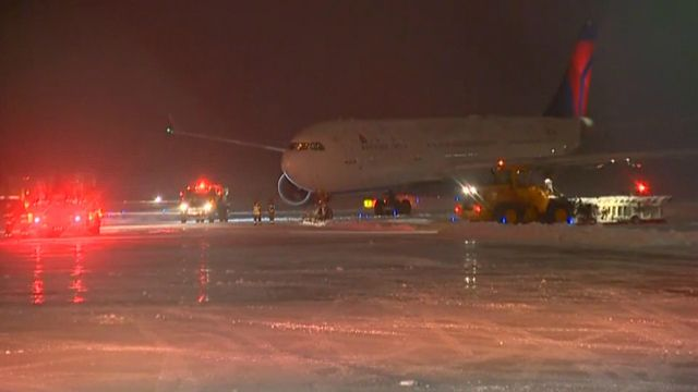 WHAT NEXT?!! Vikings plane slides off runway at Appleton