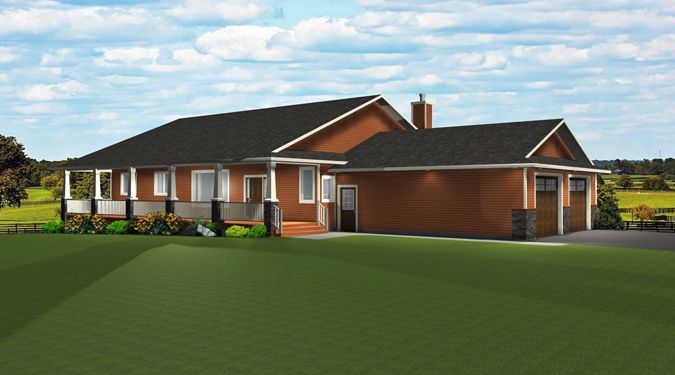 Ranch Style Bungalow With Walkout Basement A Well Laid Out Home Attached Garage Bungalow House Plans Ranch House Floor Plans New House Plans