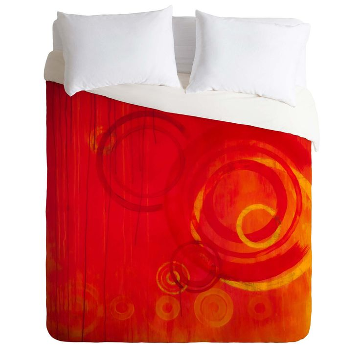 Stacey Schultz Circle World Red Duvet Cover | DENY Designs Home Accessories