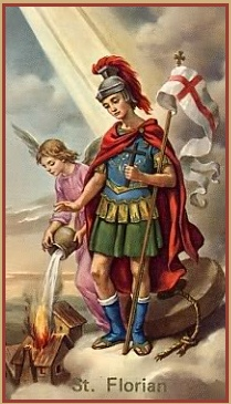 Saint Florian, patron of Linz, Austria, Patron Saint of Firefighters is known as the protector of firefighters.