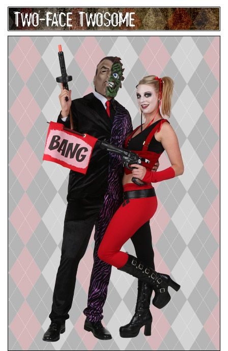 Harley Quinn and Two-Face couples costume idea