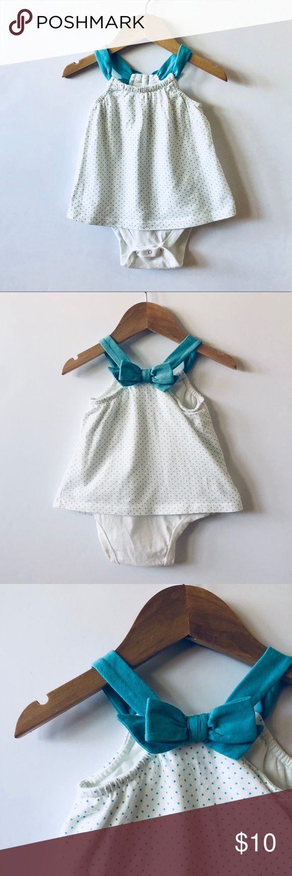 Baby Gap   Onesie bow back tank top 100% very soft cotton. Faux bow in back.   Excellent condition. Smoke free home.   ✨ships next business day✨ GAP Shirts & Tops #babytanktops