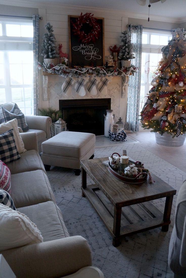 christmas living room decor pinterest