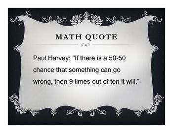 MATH POSTERS: FUNNY MATH QUOTES (15 POSTERS) - TeachersPayTeachers.com