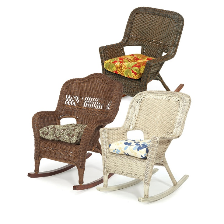 All Weather Rocker Chairs, Ponder life's great mysteries while rocking in one of these comfortable rockers.  Available in Montego Bay, Key Biscayne, or Harbor Breeze styles.  (Cushions sold separately)