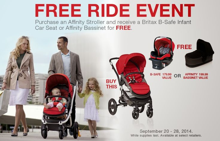 You get to own a Britax Affinity Stroller plus a Britax Bassinet or Britax Infant Car seat for the price of the stoller?  Wow, hurry and take advantage of this offer valid until 9/28/14!!!!!