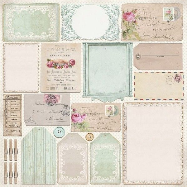 Vintage frames, labels and tags