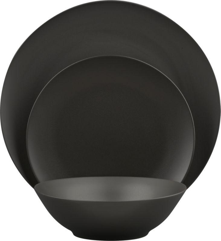 black clay dinnerware in dinnerware | CB2