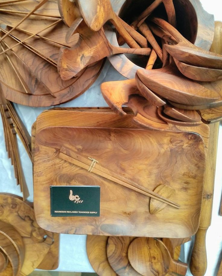 Wooden Kitchenware from Bali.   Unique Teak handmade products from Java Indonesia
