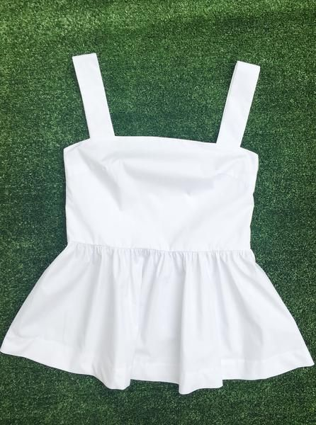 Pinafore Peplum Top | The Only Label