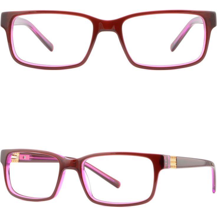 Light Women's Acetate Frames Spring Hinges RX Prescription Glasses Rectangle Red