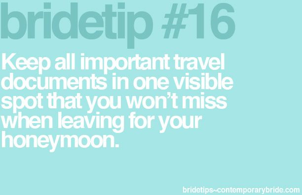 Good advice before traveling!