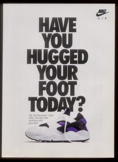 Original 1992 Nike Air Huarache advert The Daily Street
