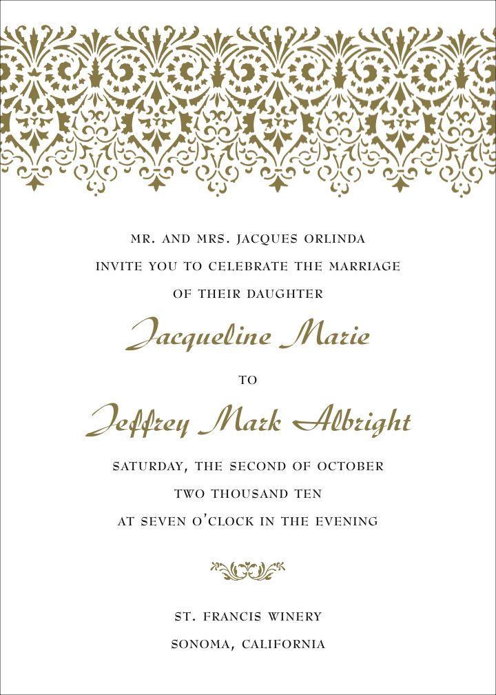 23 best images about wedding invitation wording on pinterest, Wedding invitations