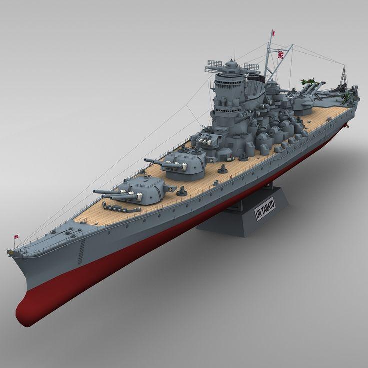 3d model ijn yamato 3d model render pinterest models - Yamato render ...