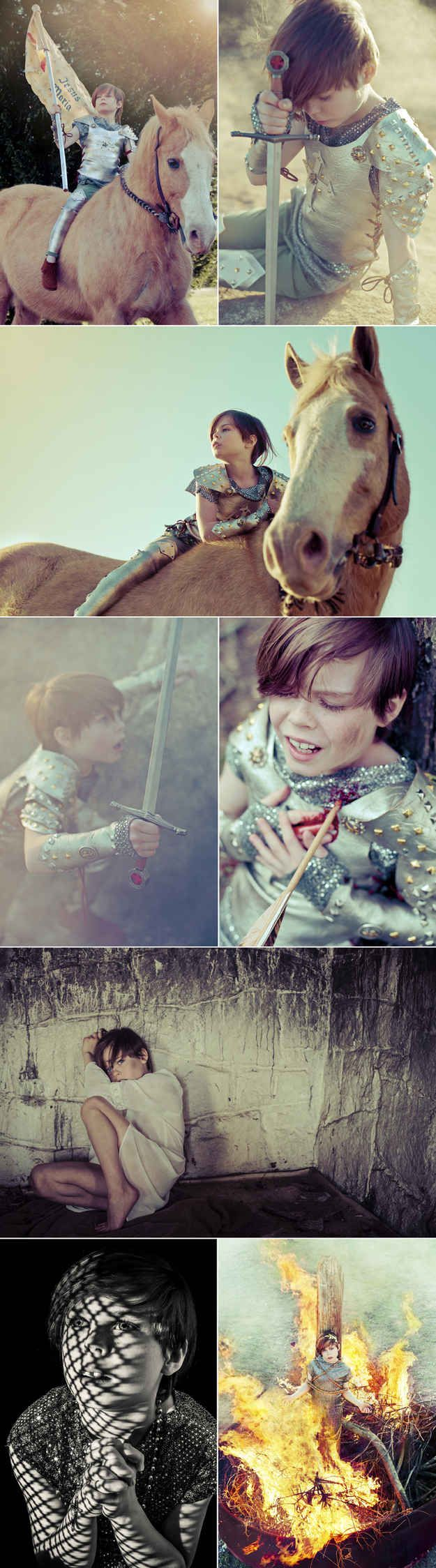 Joan of Arc amazing cosplay created by a third grader!