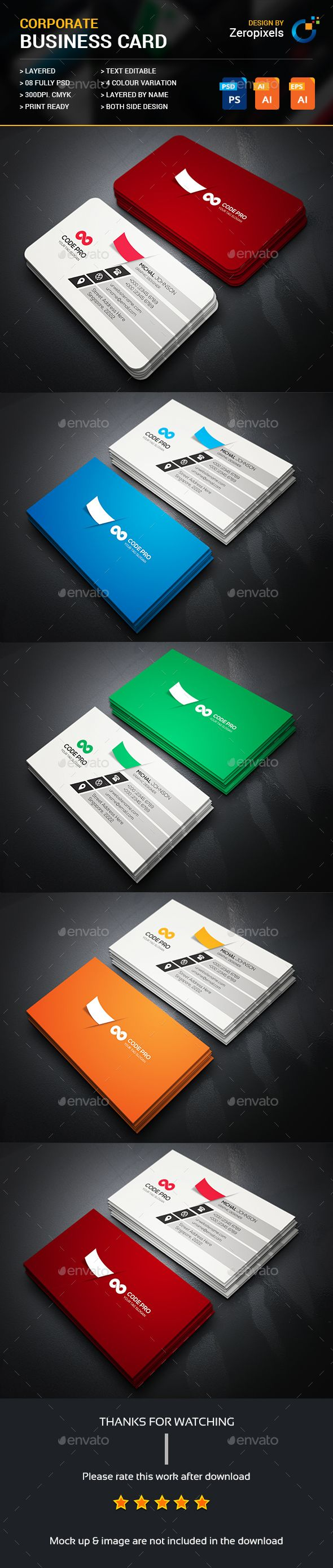 Business Card Template PSD, Vector EPS, AI Illustrator. Download here: https://graphicriver.net/item/business-card/17358232?ref=ksioks