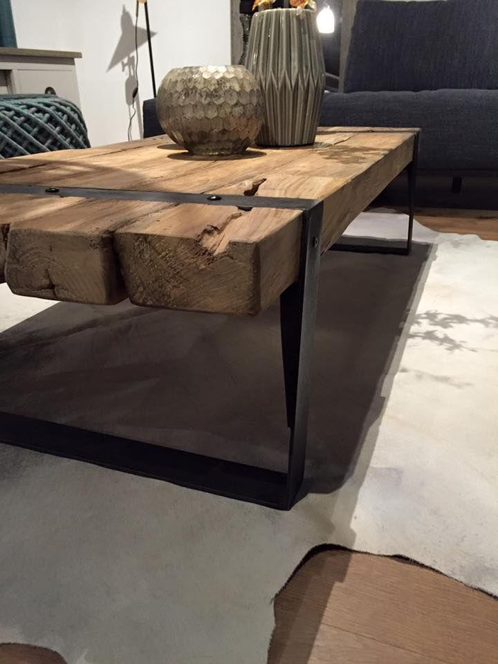 Balken salontafel oud teak