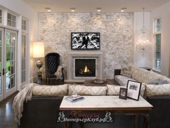 12 Белая кирпичная стена в интерьере гостиной, белые кирпичные стены в интерьере, дизайн интерьера с кирпичной стеной