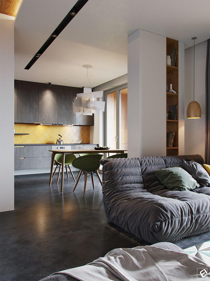Modern interior on Behance