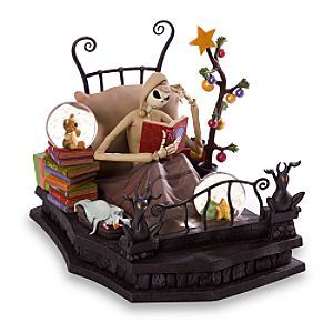 Nightmare Before Christmas: Visions of sugarplums dance in Jack's head as he reads the story of ''Rudolph'' in bed. Could a brilliant scheme emerge from his holiday obsession? Zero catches 40 ghostly winks nearby on this spooky Jack sculpture inspired by Tim Burton's The Nightmare Before