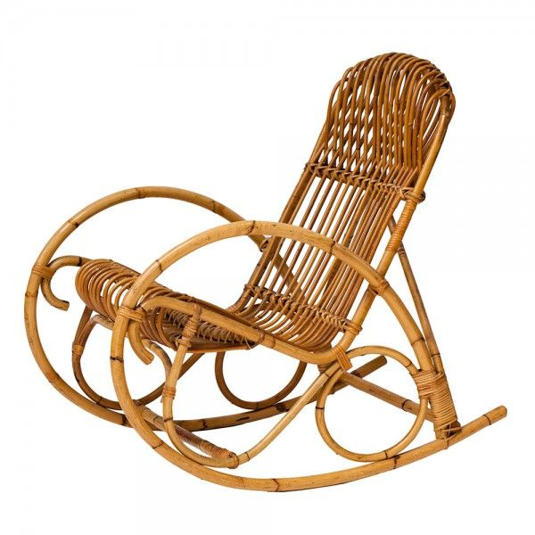 "Rocking chair vintage ""Sieste"" #rotin #vintage"