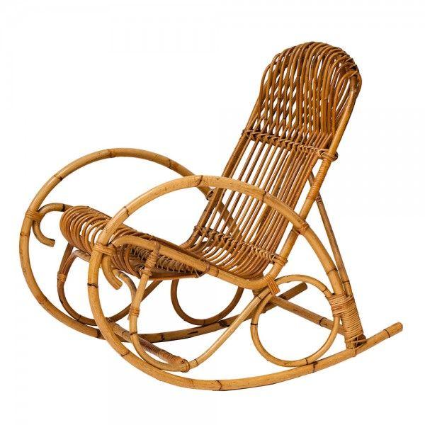 """Rocking chair vintage """"Sieste"""" #rotin #vintage"""