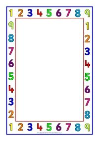 Number A4 Page Borders (SB11412) - SparkleBox More