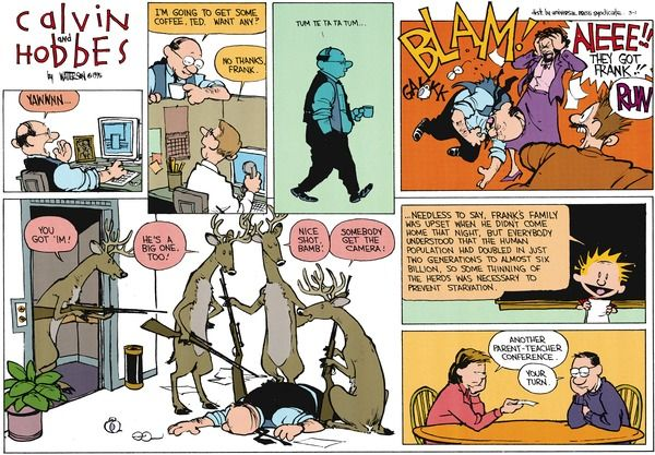 Calvin and Hobbes strip for March 1, 2015