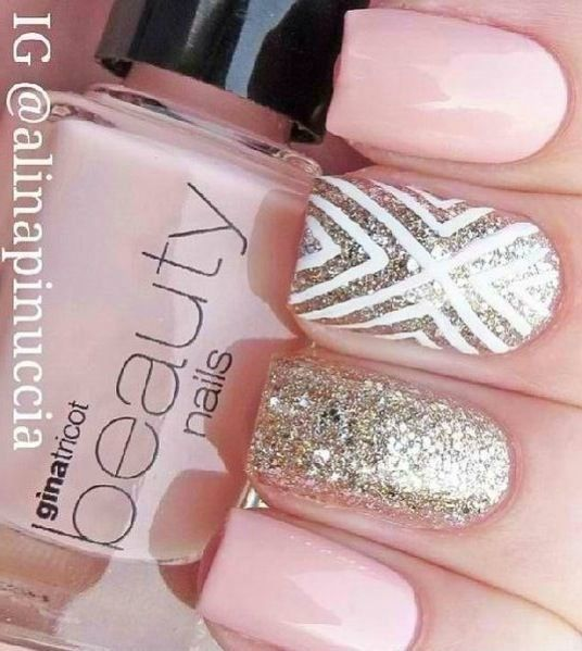 44 best manis and pedis images on pinterest art ideas bridal wedding nails i love the accent nail on this doing the white stripes on top of essies berry naughty prinsesfo Choice Image