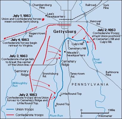 Best Civil War Battlefields Map Images On Pinterest Civil - Battle of gettysburg us map