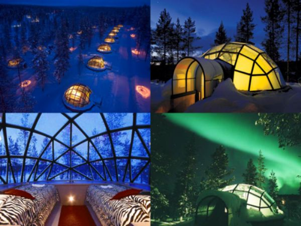 Igloo Hotel. Finland. Northern Lights. Aurora.