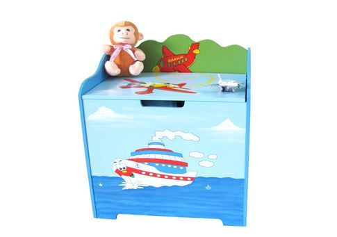 Boys Hand Painted Boat Toy Box at Just $59.95 #kidsroomwoodenfurniture