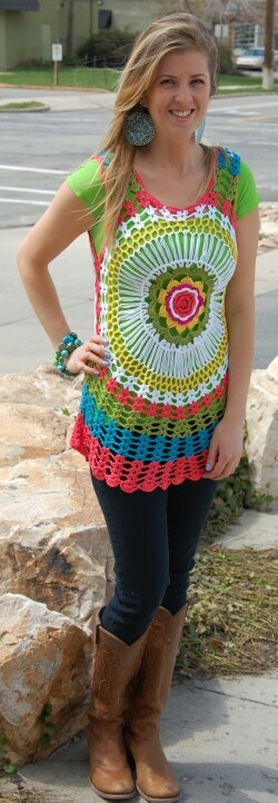 Crochet vest at whimsy clothing