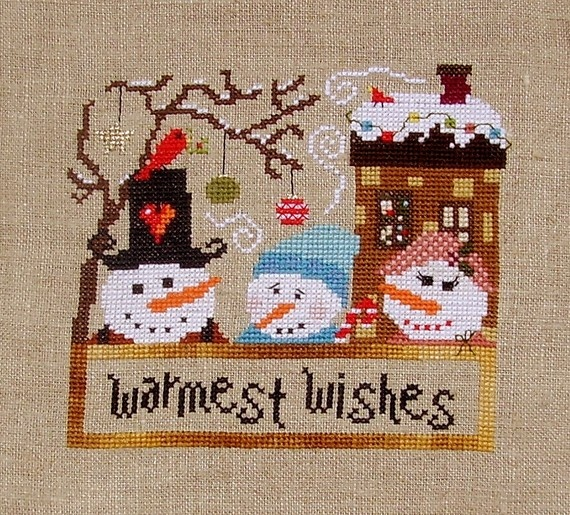 Warmest wishes cross stitch chart