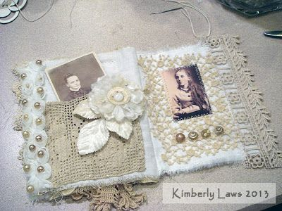 ArtJoyStuff: Fabric And Lace Journal - My Tips And Tricks - Part 4