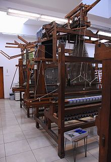 Jacquard looms in the Textile Department of the Strzemiński Academy of Fine Arts in Lodz, Poland.
