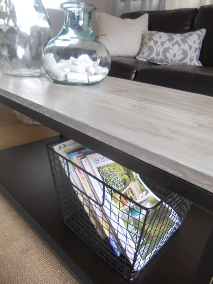 My little Ikea coffee table was in need of an upgrade and she got it!!  I have been in love with West Elm's  box frame coffee table  for a v...