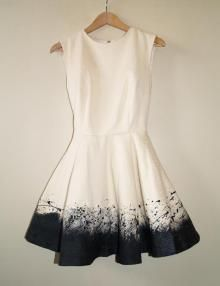 DIY dress makeover...Yep that's pretty much what any white dress I would ever own would look like after ten minutes!!!