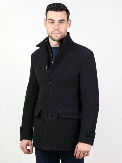 Pánsky zimný kabát STYLER - tmavošedá