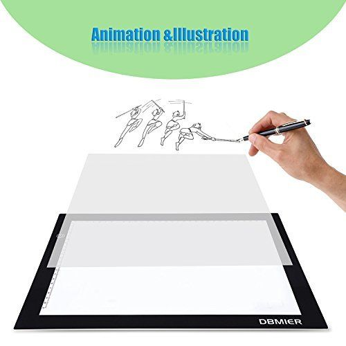 Tracing Light box Dbmier A4S USB Powered Light Pad Artcraft Tracing LED Light Board for Drawing