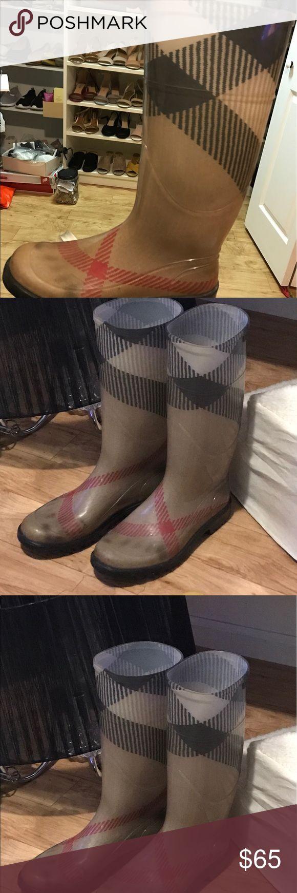 Authentic Burberry rain boots Authentic Burberry boots  sz38 Burberry Shoes Winter & Rain Boots